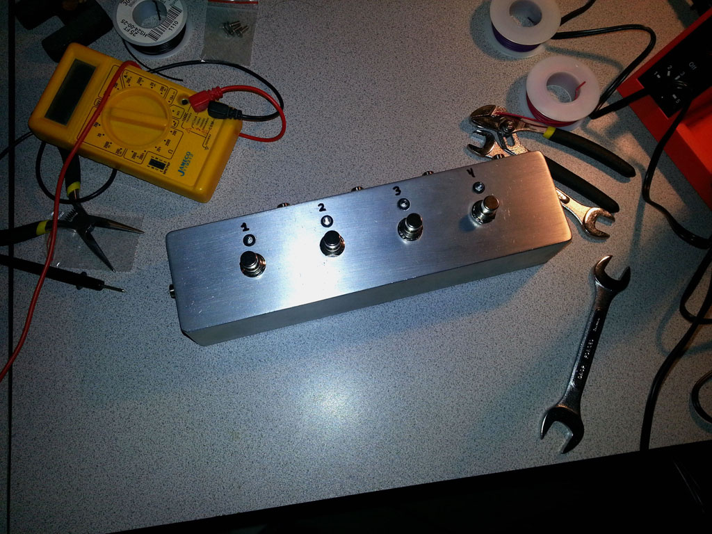 diy guitar fx 4 channel audio looper shanekirk com diy guitar fx 4 channel audio looper